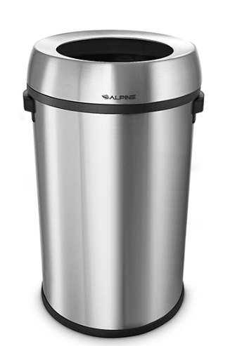 17 Gal Stainless Steel Open Top Can