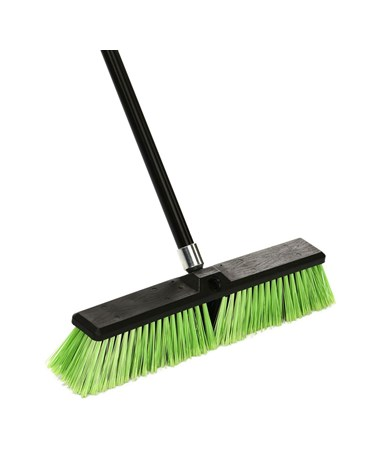 "18"" Rough Surface Push Broom W/handle"