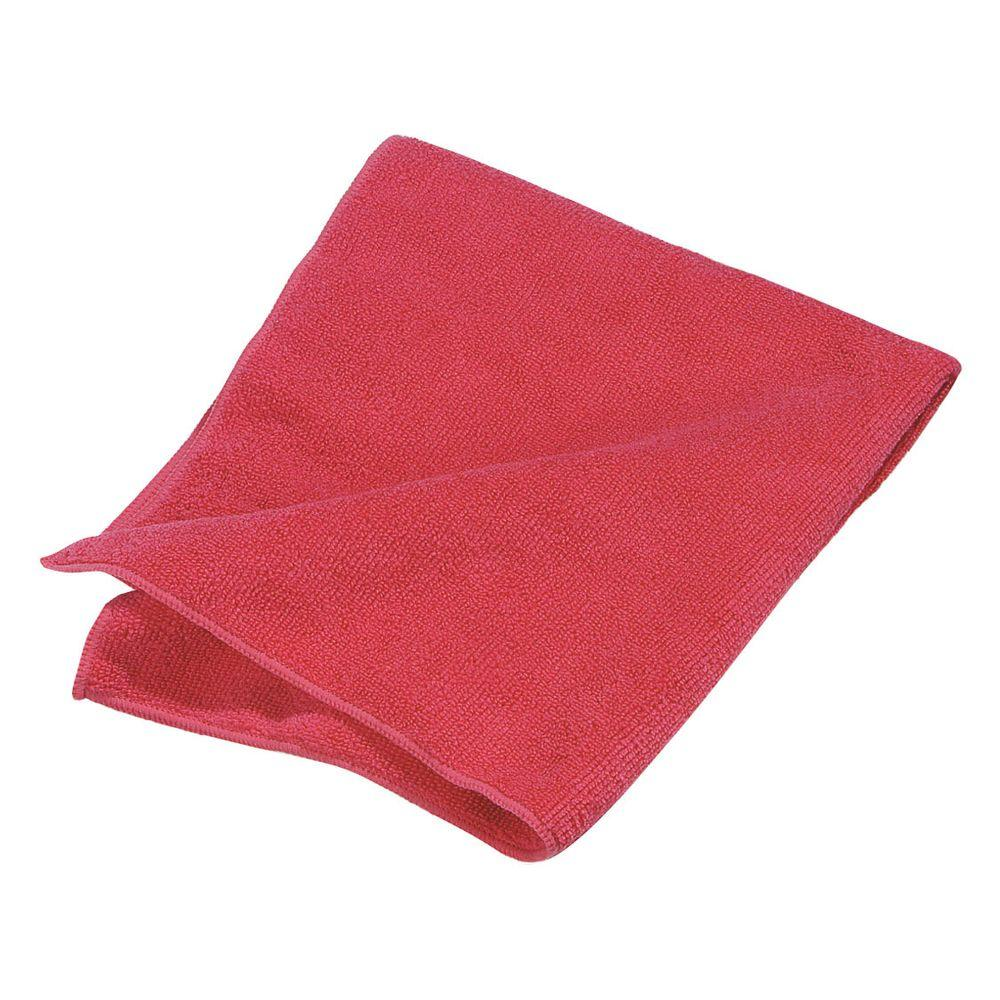 Microfiber Cleaning Cloth Red (24/pk)