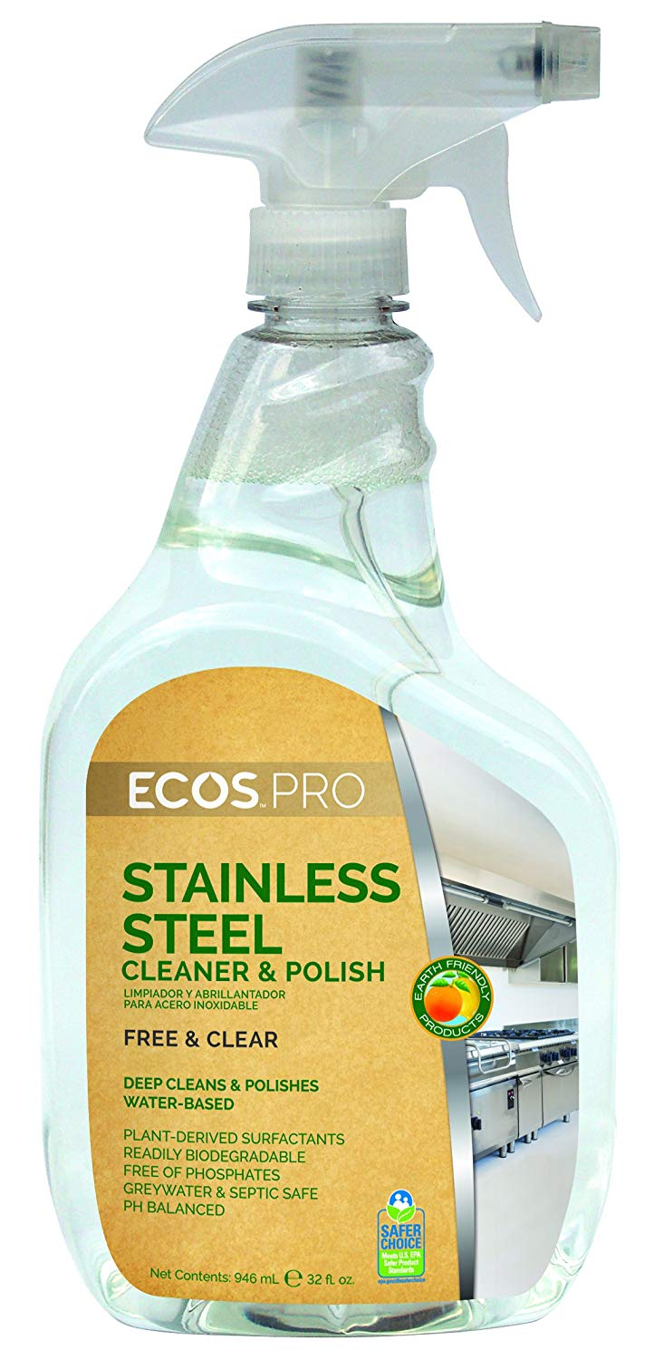 Ecos Pro Stainless Steel Cleaner & Polish 6/32 Oz