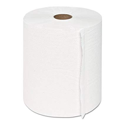 8 White Roll Towel (6/cs)