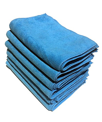 Microfiber Cleaning Cloth Blue 12/p (12/pk)