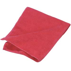 Microfiber Cleaning Cloth Red (12/pk)