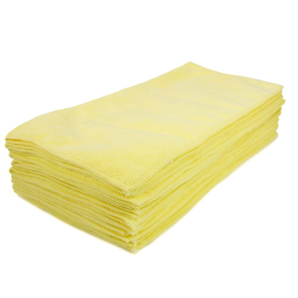 Microfiber Cleaning Cloth Yell 12/p (12/pk)