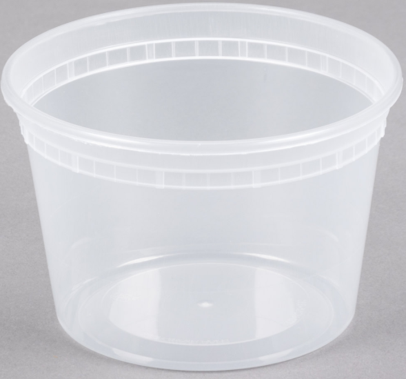 16 Oz Clear Deli Container No  Lids (480/cs)