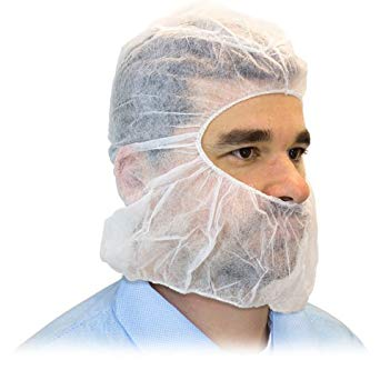Large White Hair/beard Cover 10/100 (1000/cs)