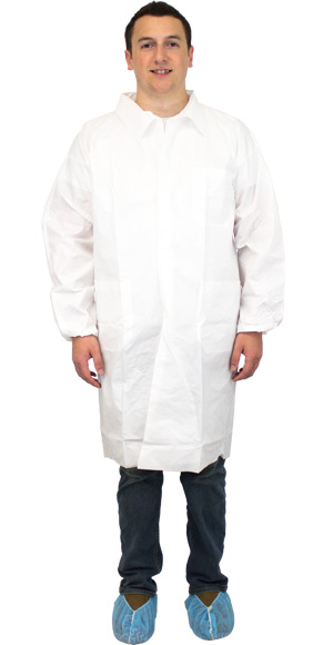 White Lab Coat No Pockets Medium