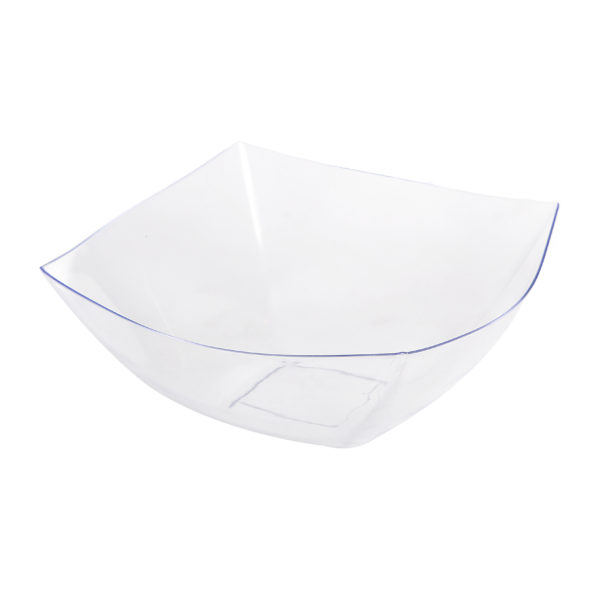 Square Fancy Clear 64 oz  Serving Bowl (50/cs)